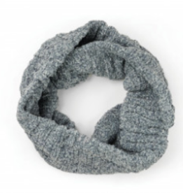Chenille Infinity Scarf Gray