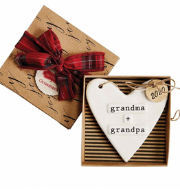 MUDPIE Ornament 2020 Stamped Grands