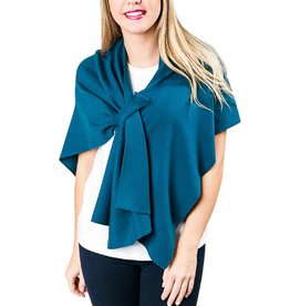 TOP IT OFF Katie Knit Keyhole Wrap Teal