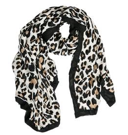 TOP IT OFF Swana Scarf Black/Cream Leopard