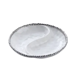 PAMPA BAY BARBAGALLO COMPANY Porcelain Small 2-Section Platter