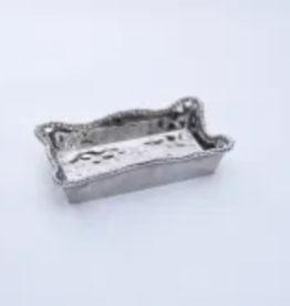 PAMPA BAY BARBAGALLO COMPANY Porcelain Dinner Napkin/Guest Towel Holder Silver