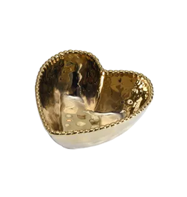 PAMPA BAY BARBAGALLO COMPANY Porcelain Heart Bowl Gold