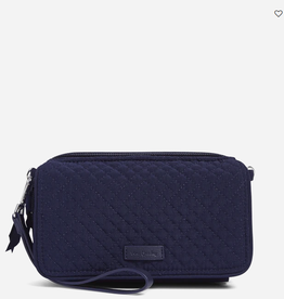 VERA BRADLEY Iconic RFID All in One Crossbody Classic Navy