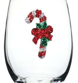 Stemless Wine Glass Candy Cane