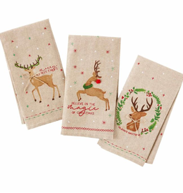 MUDPIE Dish Towel Reindeer
