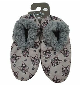 Comfies Slippers Silver Tabby