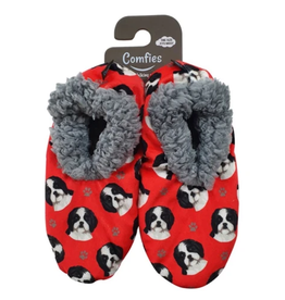Comfies Slippers Shih Tzu Black