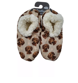 Comfies Slippers Dachshund Red
