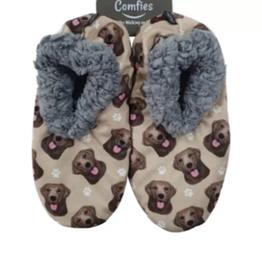 Comfies Slippers Chocolate Labrador