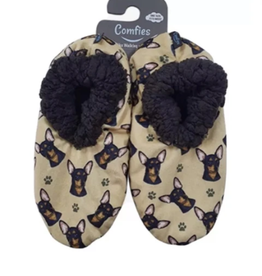 Comfies Slippers Chihuahua Black