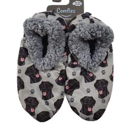 Comfies Slippers Black Labrador