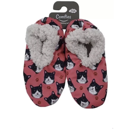 Comfies Slippers Black & White Cat