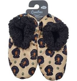 Comfies Slippers Dachshund Black
