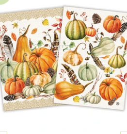 MICHEL DESIGN WORKS Kitchen Towels Set 2 Sweet Pumpkin