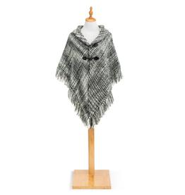 Tweed Toggle Wrap Gray