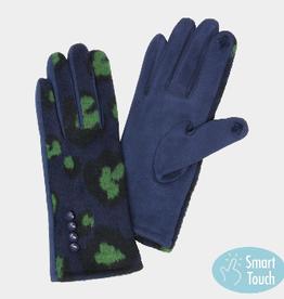 Smart Glove Navy Leopard