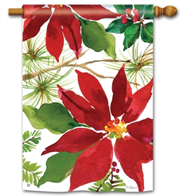 STANDARD FLAG Pretty Poinsettia