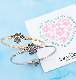 LUCA & DANNI Bangle Bracelet Pawprint