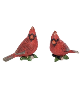 Resin Cardinal w/Holly