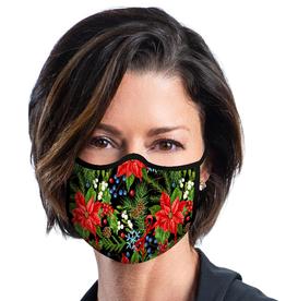 RAINCAPER BY GAZEBO GREEN Face Mask - Poinsettias