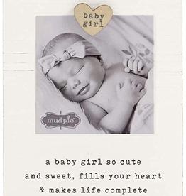 MUDPIE Baby Girl Magnet Wood Frame