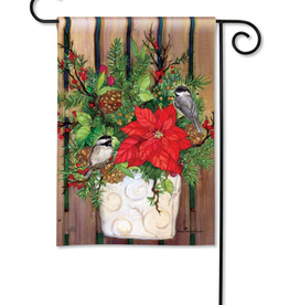 CHICKADEE GREETERS GARDEN FLAG