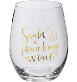 Boxed Stemless Wine Santa Please Bring Wine