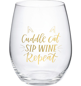 Boxed Stemless Wine Cuddle Cat...
