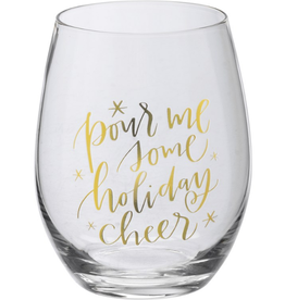 Boxed Stemless Wine Pour Me Some Holiday Cheer