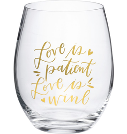 Boxed Stemless Wine Love is Patient...