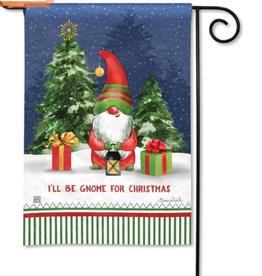 Garden Flag Gnome For Christmas