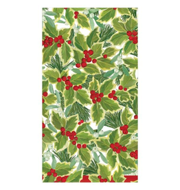 CASPARI Holly & Mistletoe Guest Towel