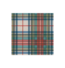CASPARI Dress Stewart Tartan Cocktail Napkin