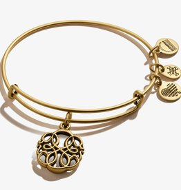 ALEX AND ANI Charm Bangle Path of Life IV in Gold