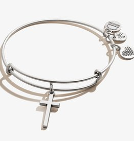 ALEX AND ANI Charm Bangle Cross II -Silver