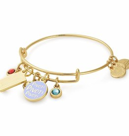 ALEX AND ANI Charm Bangle Friends Couch + 'Pivot' Cluster Shiny Gold