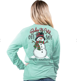 SIMPLY SOUTHERN TEES Baby It's Cold Outside LS Tee Shirt