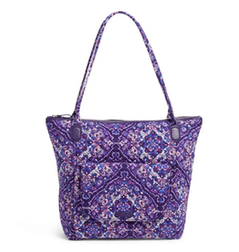 VERA BRADLEY Carson North South Tote Regal Rosette
