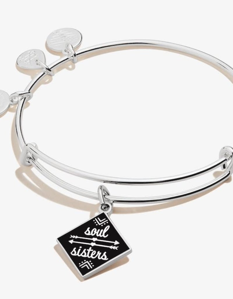 ALEX AND ANI Charm Bangle Color Infusion Soul Sisters Shiny Silver