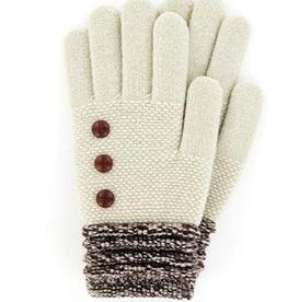Brown/Oat Cuff Gloves