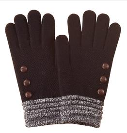 Black/White Cuff Gloves
