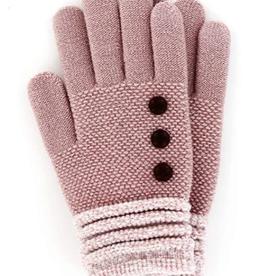 Pink/White Cuff Gloves