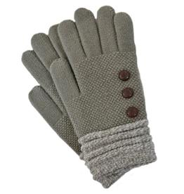 Gray/White Cuff Gloves