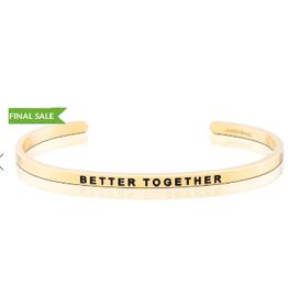 MANTRABAND Bracelet BETTER TOGETHER Gold
