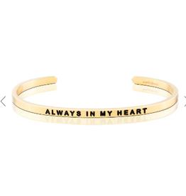 MANTRABAND Bracelet ALWAYS IN MY HEART Gold