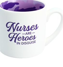 Mug Camo Nurses are Heroes 15 oz