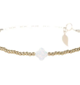 BARA BOHEME JEWELRY Opal Clover Bracelet