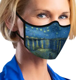 "RAINCAPER BY GAZEBO GREEN Face Mask - van Gogh ""Over the Rhone"""