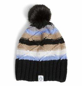 VERA BRADLEY Cozy Striped Knit Beanie Cozy Plaid Neutral